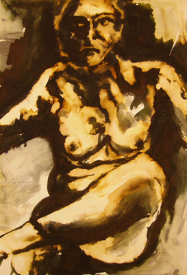 Nude Study Seated female
